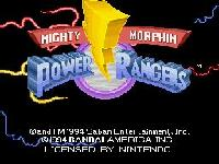 Mighty Morphin Power Rangers, capture d'écran